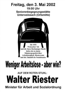 25. Roter Stuhl mit Walter Riester