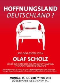 41. Roter Stuhl mit Olaf Scholz