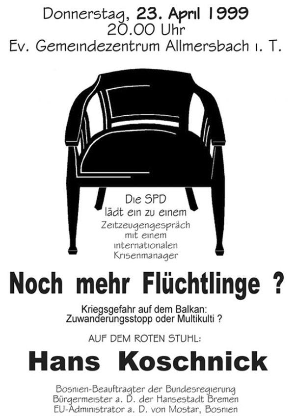20 Roter Stuhl Mit Hans Koschnik Herzlich Willkommen