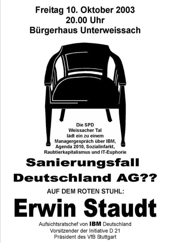 26 Roter Stuhl Mit Erwin Staudt Herzlich Willkommen Bei