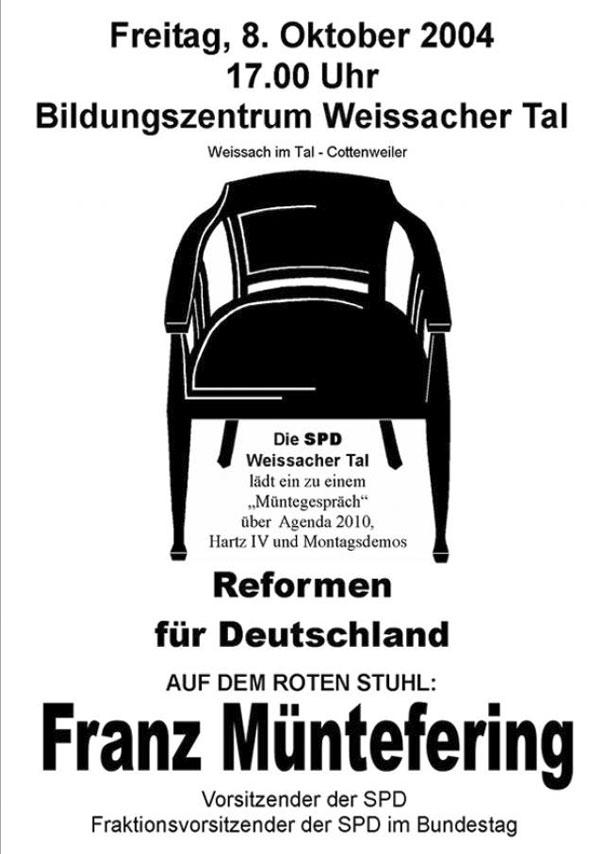 28 Roter Stuhl Mit Franz Müntefering Herzlich